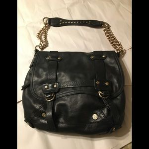 Stunning Bebe leather bag - chain/stud detail NEW